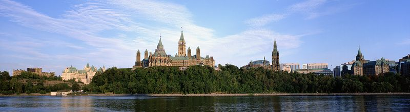 The Parliament Buildings Overlooking the Ottawa River