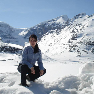 Student Enjoying Snowy Mountain