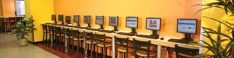 Row of Computer Study Stations