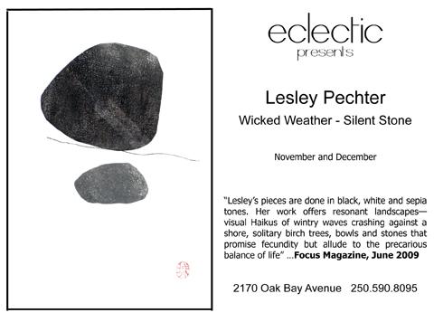 Leslie Pechter - Wicked Weather/Silent Stone, Nov 2009